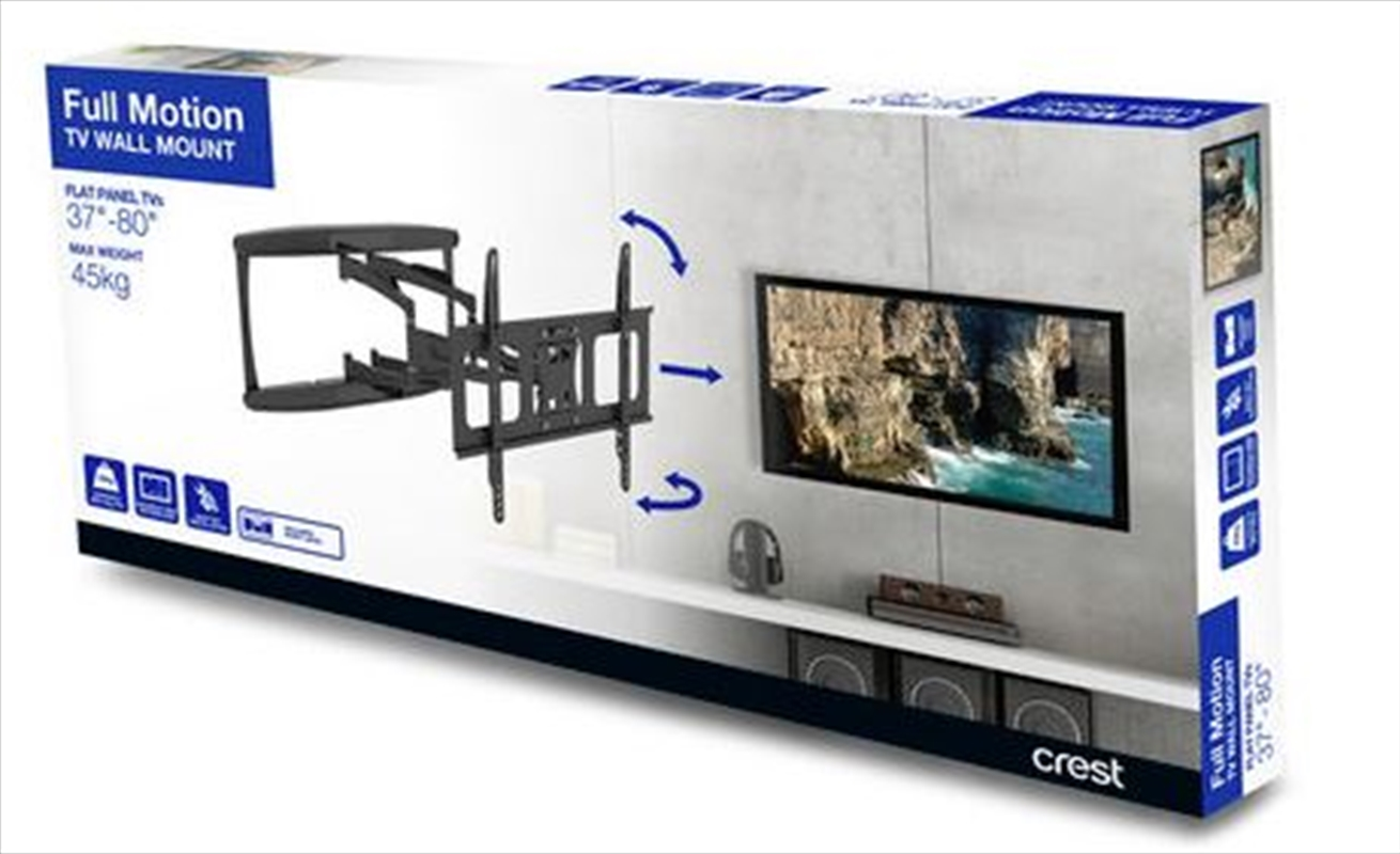 Crest Full Motion TV Wall Mount - 600 X 400 | Accessories