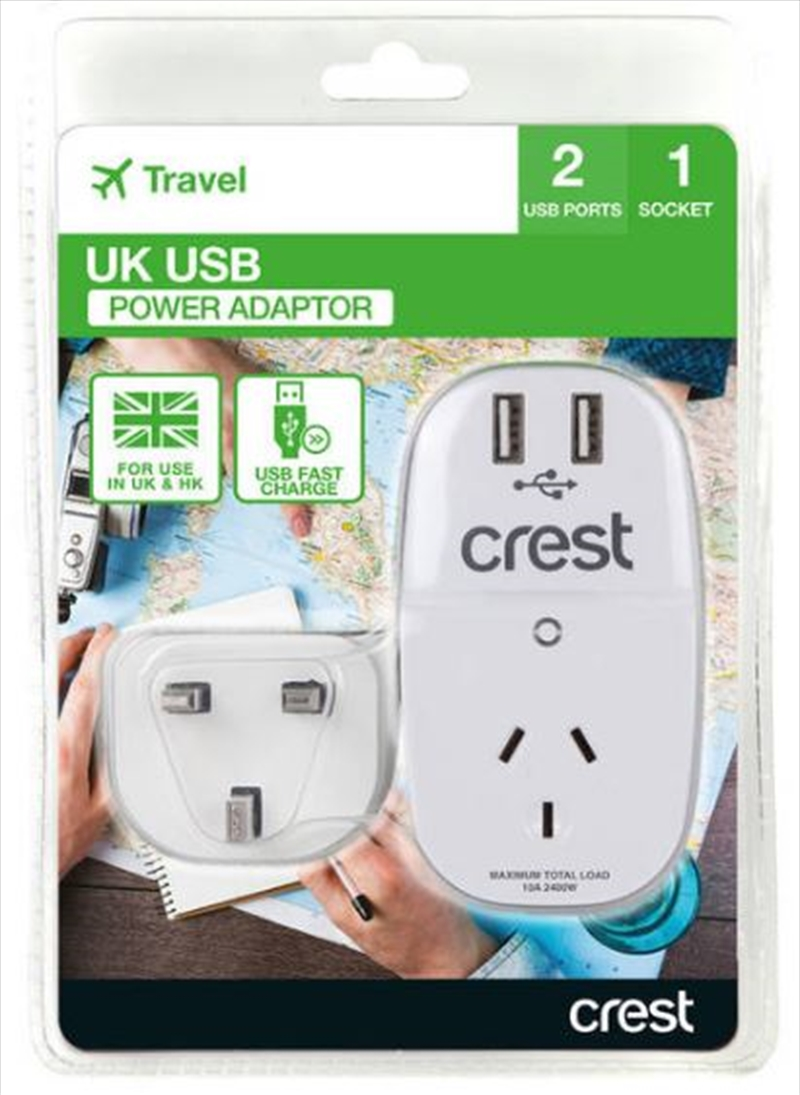 Crest UK Adaptor 1 Socket | Accessories