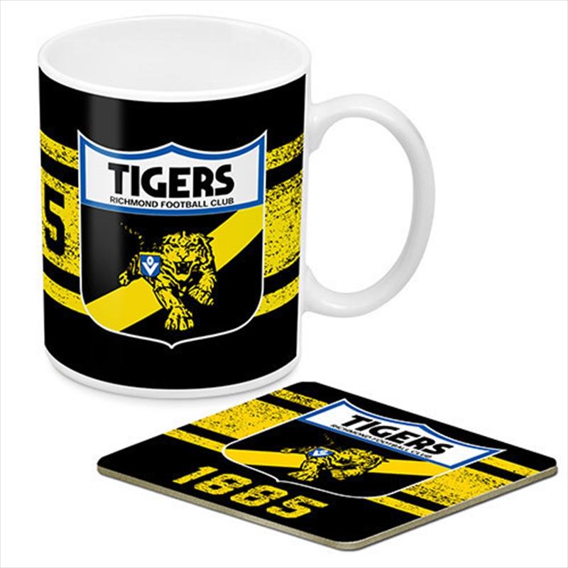 AFL Coffee Mug and Coaster 1st Team Logo Richmond Tigers   Merchandise