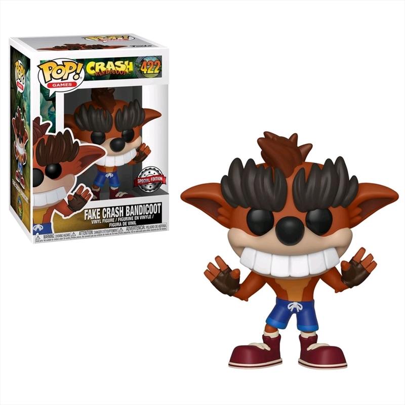 Crash Bandicoot - Fake Crash Bandicoot US Exclusive Pop! Vinyl [RS]   Pop Vinyl