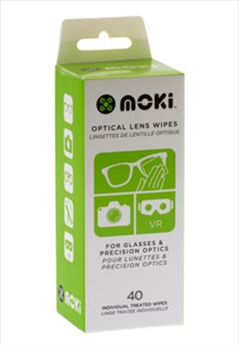 Moki Optical Lens Wipes - 40 Pack | Accessories