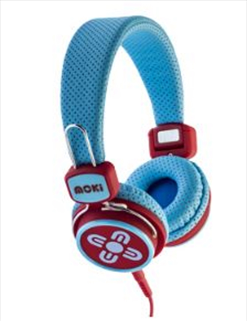 Kid Safe Volume Limited Blue & Red Headphones | Accessories