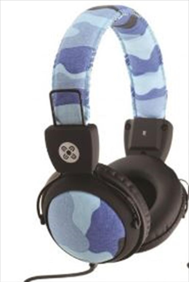 Camo In-line Mic Blue Headphones | Accessories