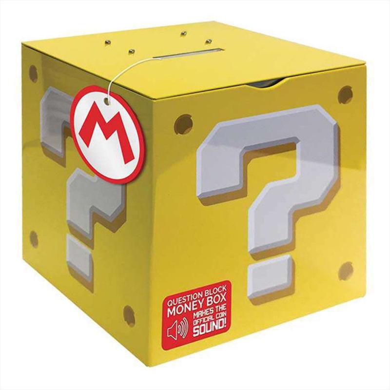 Super Mario Question Block Moneybox | Homewares