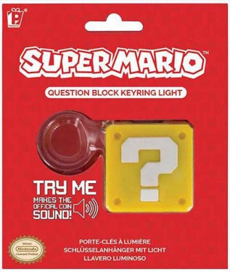 Super Mario Question Block Keyring Light | Accessories