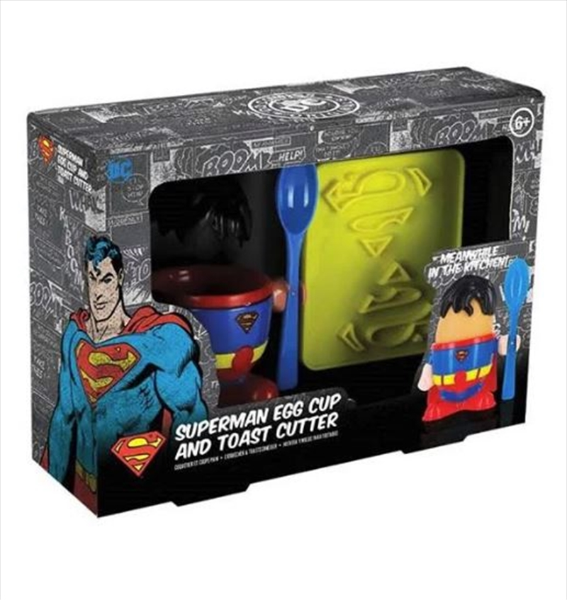 Superman Egg Cup And Toast Cutter | Homewares