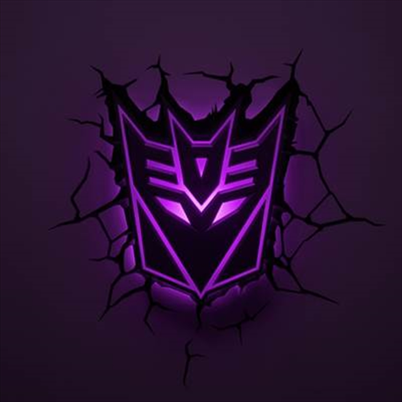 Transformers - Decepticon Logo 3D Deco Light | Accessories