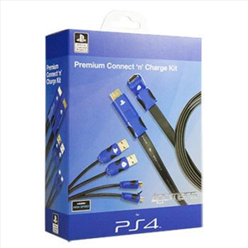 Licensed 4Gamers Premium Connect and Charge Kit | PlayStation 4