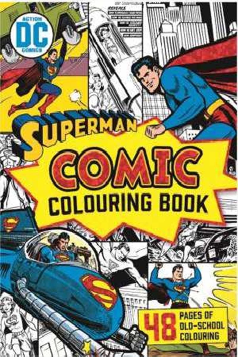 DC Comics: Superman Vintage Comic Colouring Book | Paperback Book