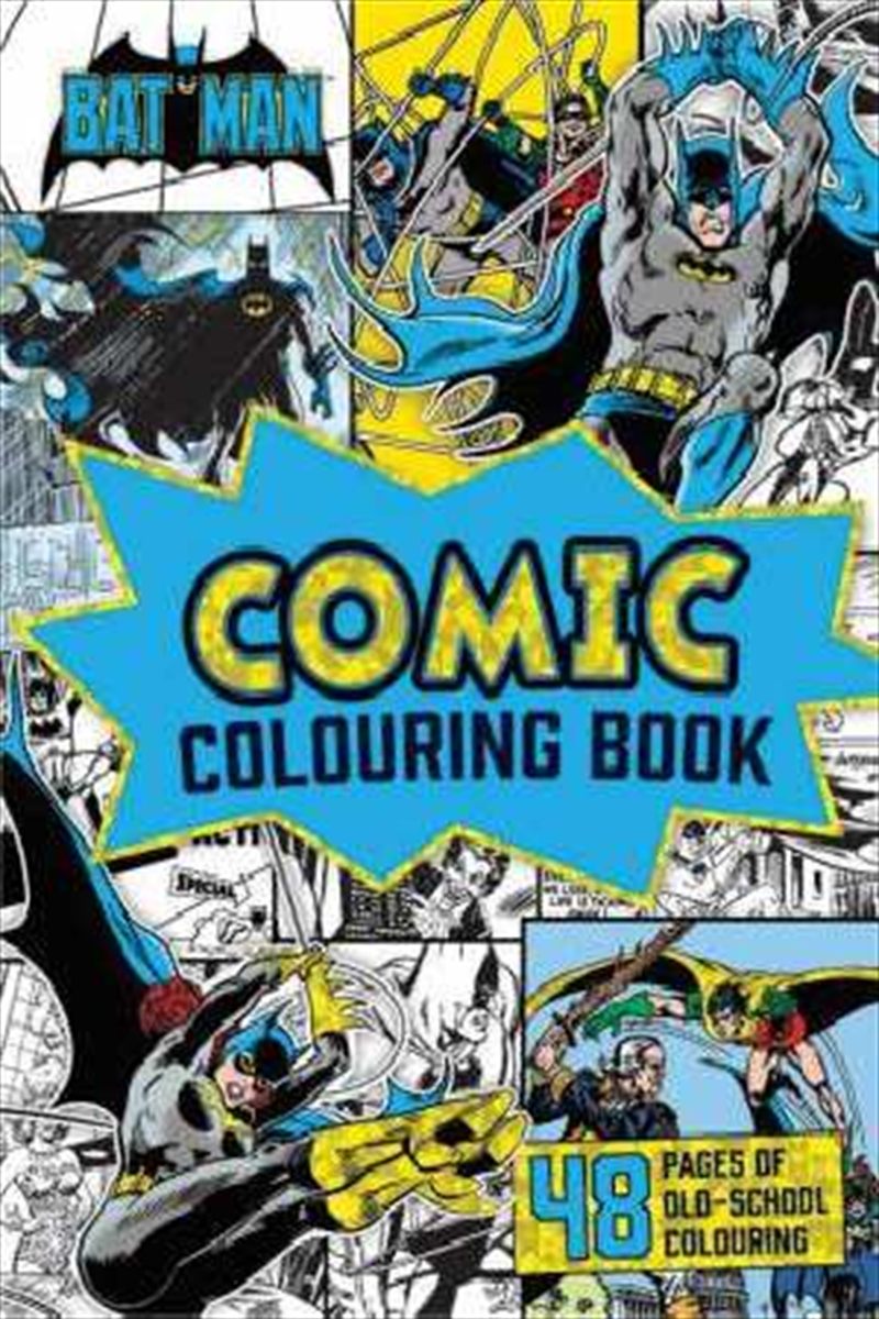 DC Comics: Batman Vintage Comic Colouring Book | Paperback Book