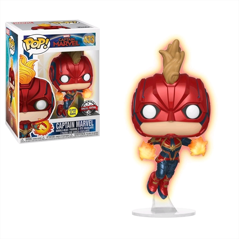 Captain Marvel - Captain Marvel Masked Flight Glow US Exclusive Pop! Vinyl [RS] | Pop Vinyl