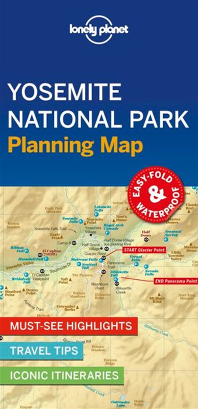 Lonely Planet Travel Guide - 1st Edition Yosemite National Park Planning Map | Sheet Map