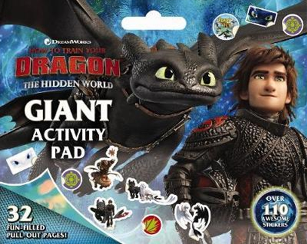 How to Train your Dragon: The Hidden World: Giant Activity Pad | Paperback Book