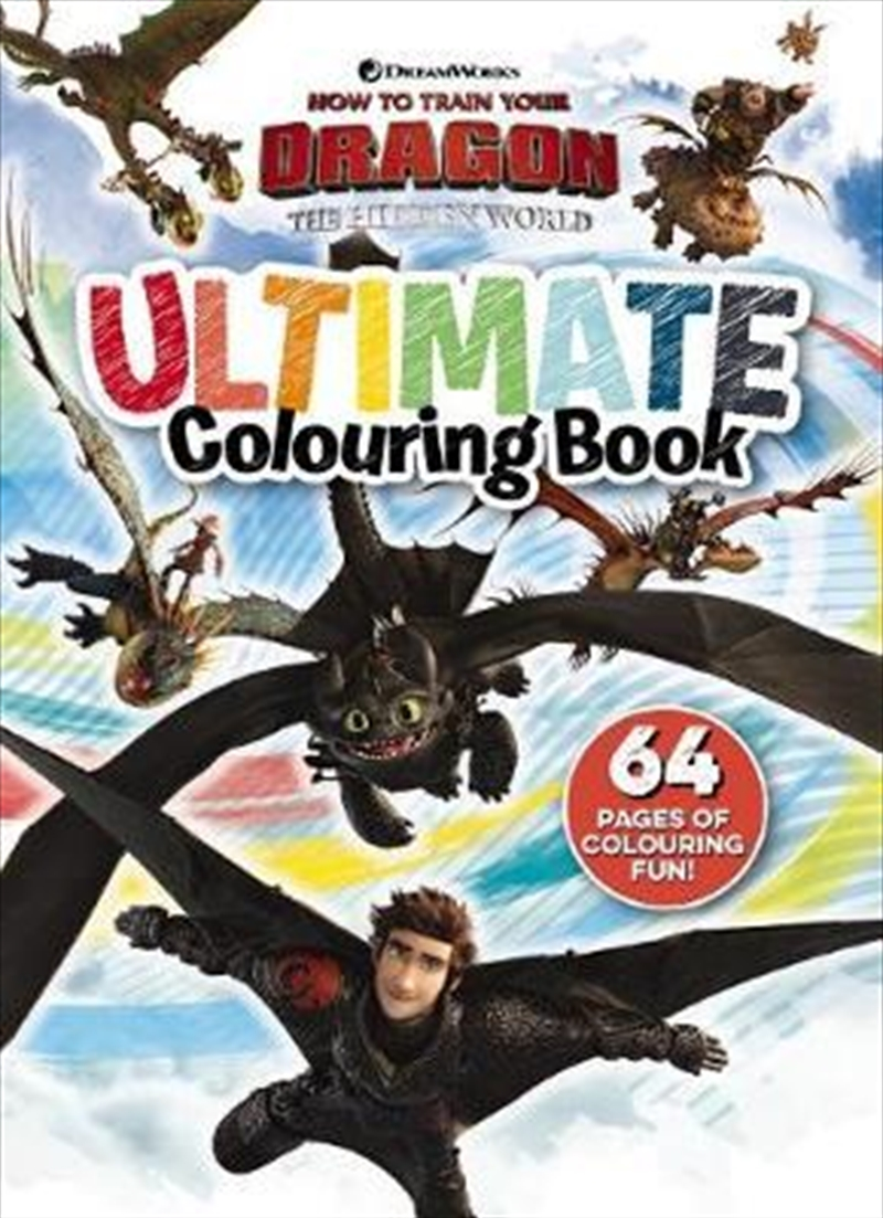 How to Train your Dragon: The Hidden World: Ultimate Colouring Book | Paperback Book
