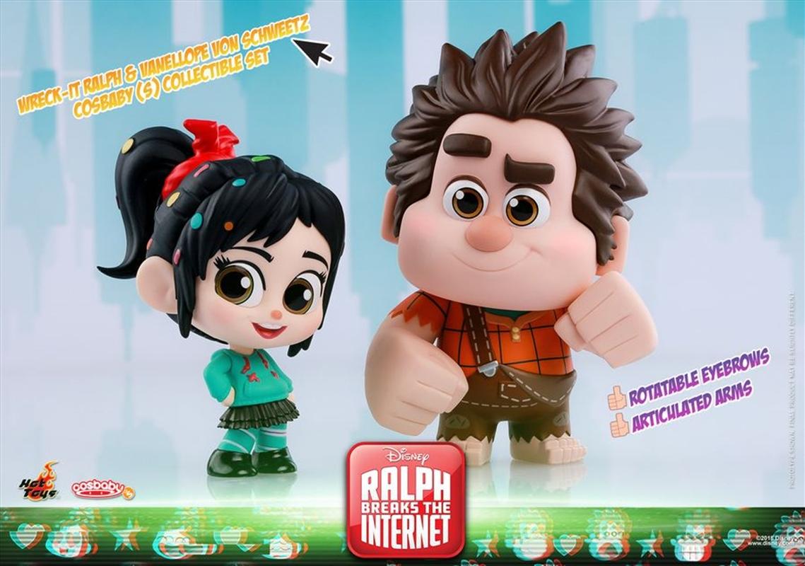Wreck-It-Ralph 2: Ralph Breaks the Internet - Ralph & Vanellope Cosbaby Set   Merchandise