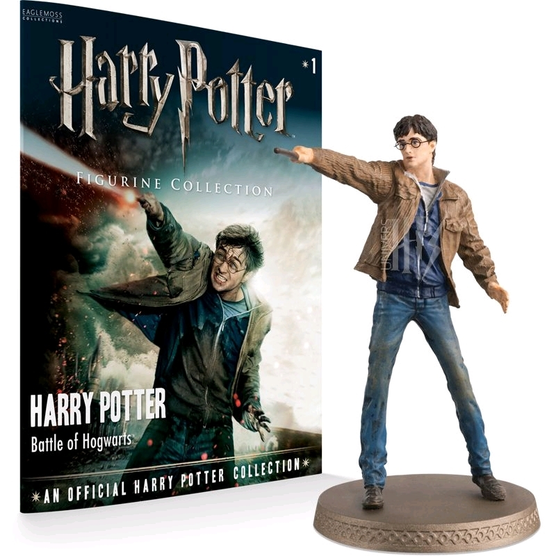 Harry Potter - Harry (Battle Scene) 1:16 Figure & Magazine | Merchandise