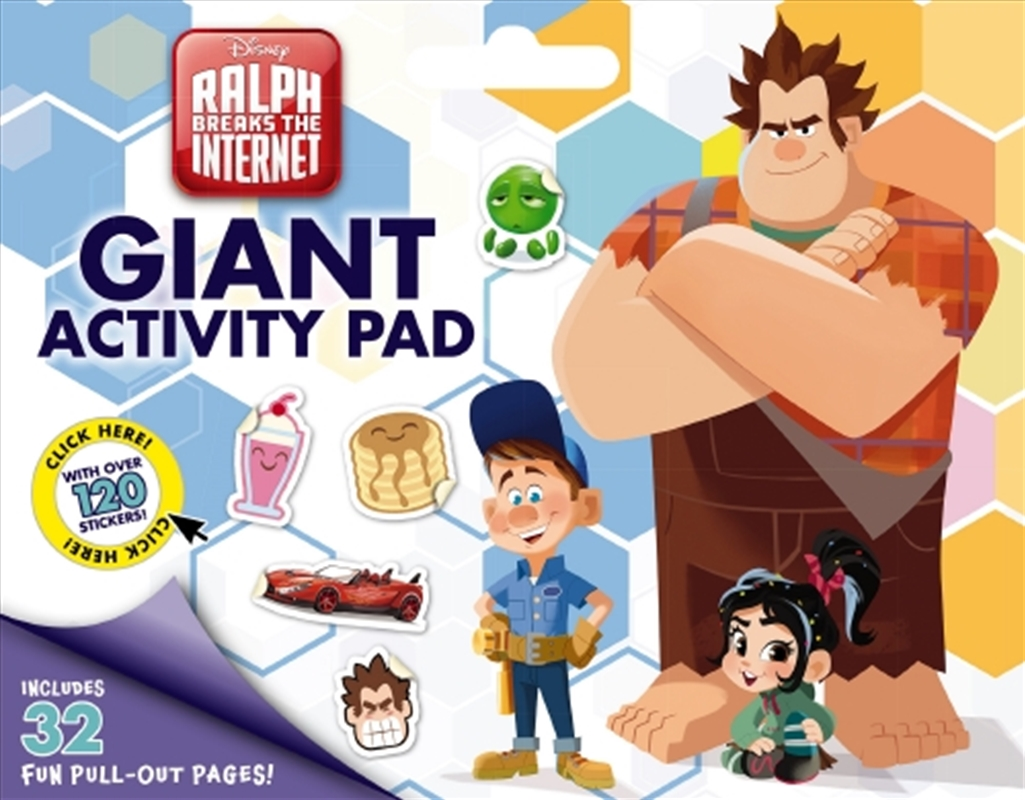 Disney: Ralph Breaks the Internet Giant Activity Pad | Paperback Book