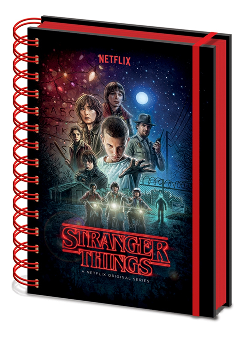 Stranger Things One Sheet A5 Wiro Notebook Stationery
