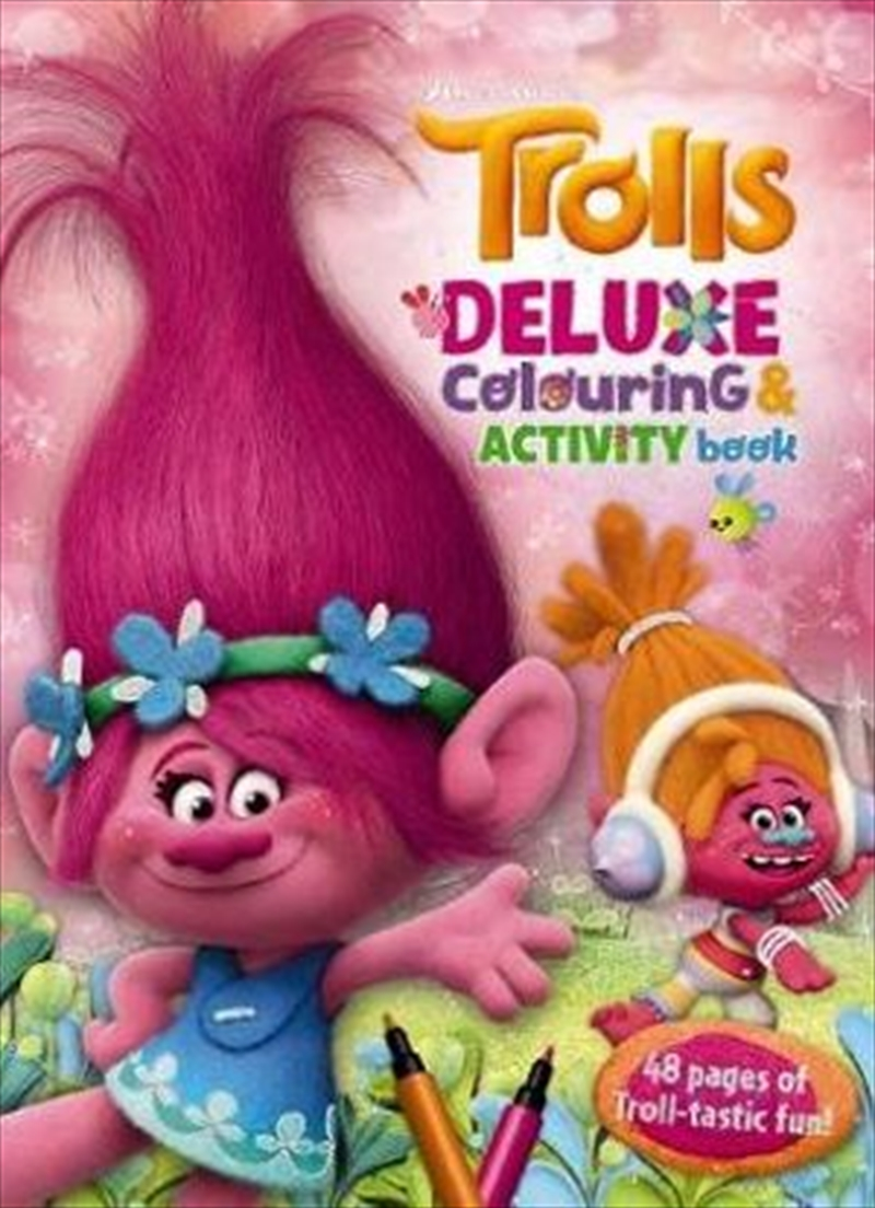 Dreamworks: Trolls Deluxe Colouring & Activity Book | Paperback Book