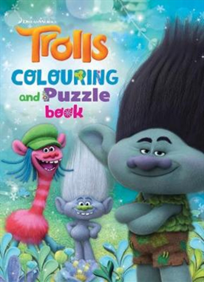 Dreamworks: Trolls Colouring & Puzzle Book | Paperback Book