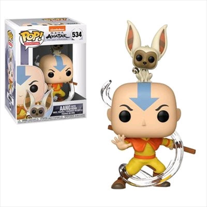 Avatar The Last Airbender - Aang with Momo Pop! Vinyl | Pop Vinyl