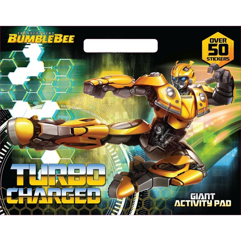 Transformers Bumblebee Turbo Charged Giant Activity Pad | Paperback Book