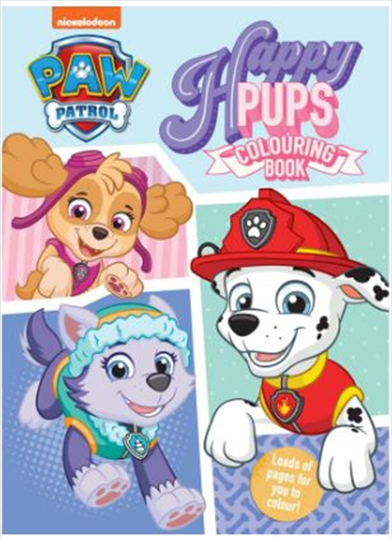 PAW Patrol Happy Pups Colouring Book | Paperback Book
