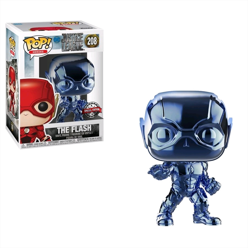 Justice League Movie - Flash Light Blue Chrome Pop! Vinyl | Pop Vinyl