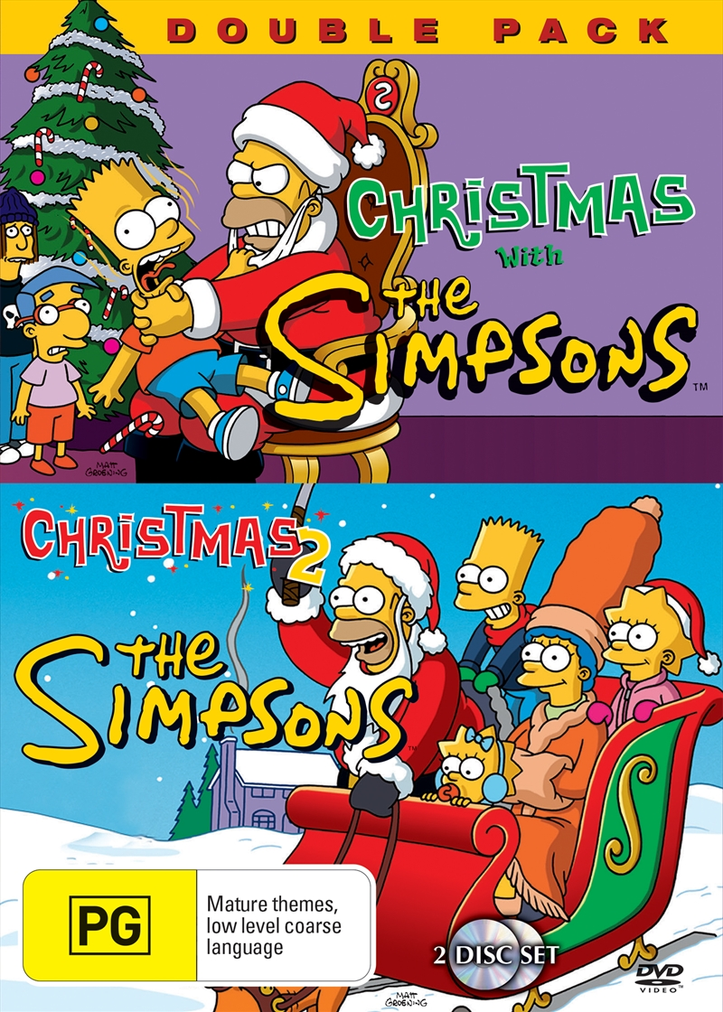 Simpsons Christmas.Simpsons Christmas Double Pack