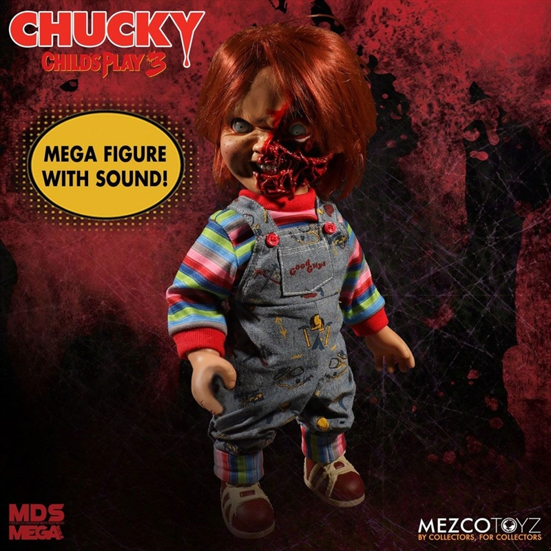 "Child's Play 3 - Chucky Pizza Face 15"" Talking Action Figure 