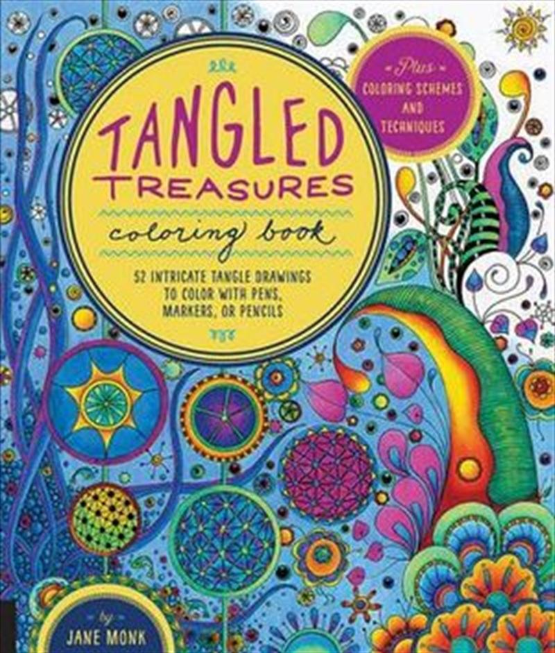 Tangled Treasures Coloring Book | Paperback Book