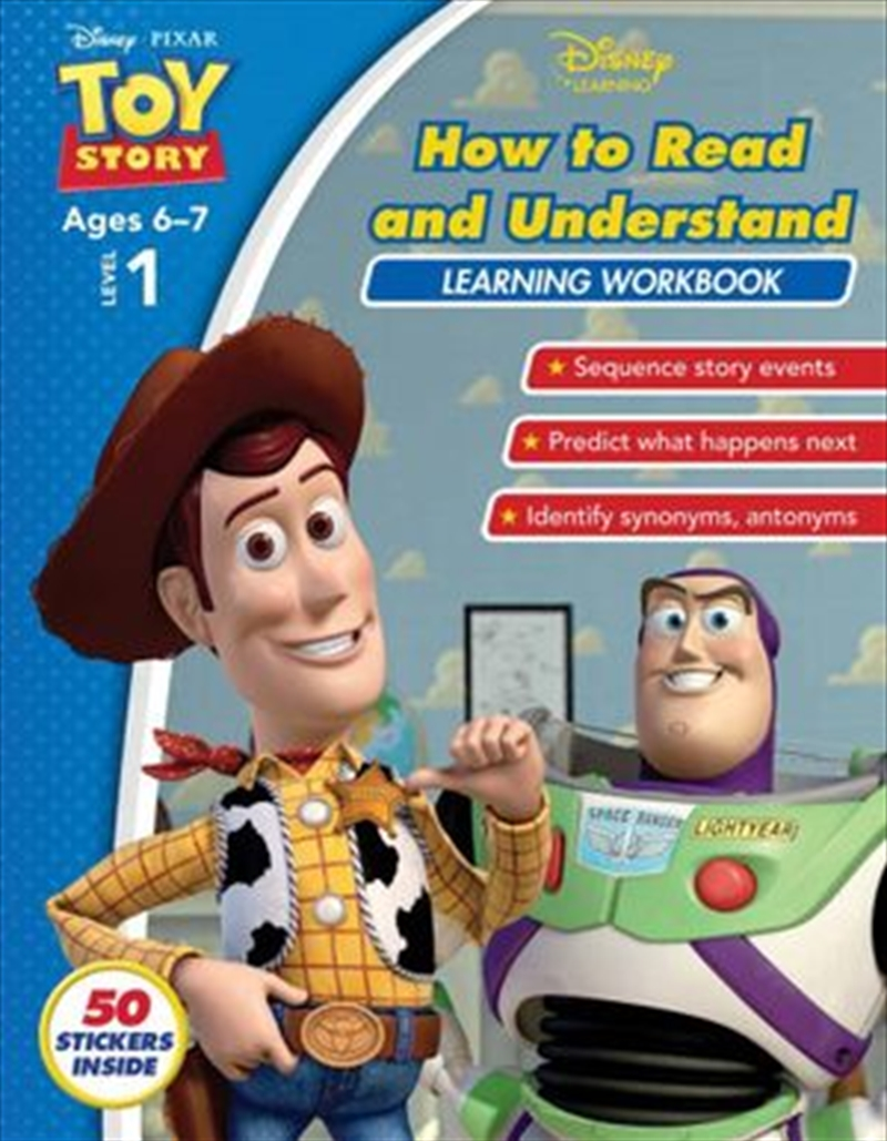Disney Toy Story: How to Read and Understand Learning Workbook Level 1 | Paperback Book