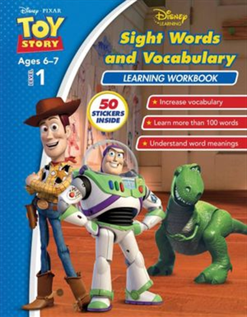 Disney Toy Story: Sight Words and Vocabulary Learning Workbook Level 1 | Paperback Book