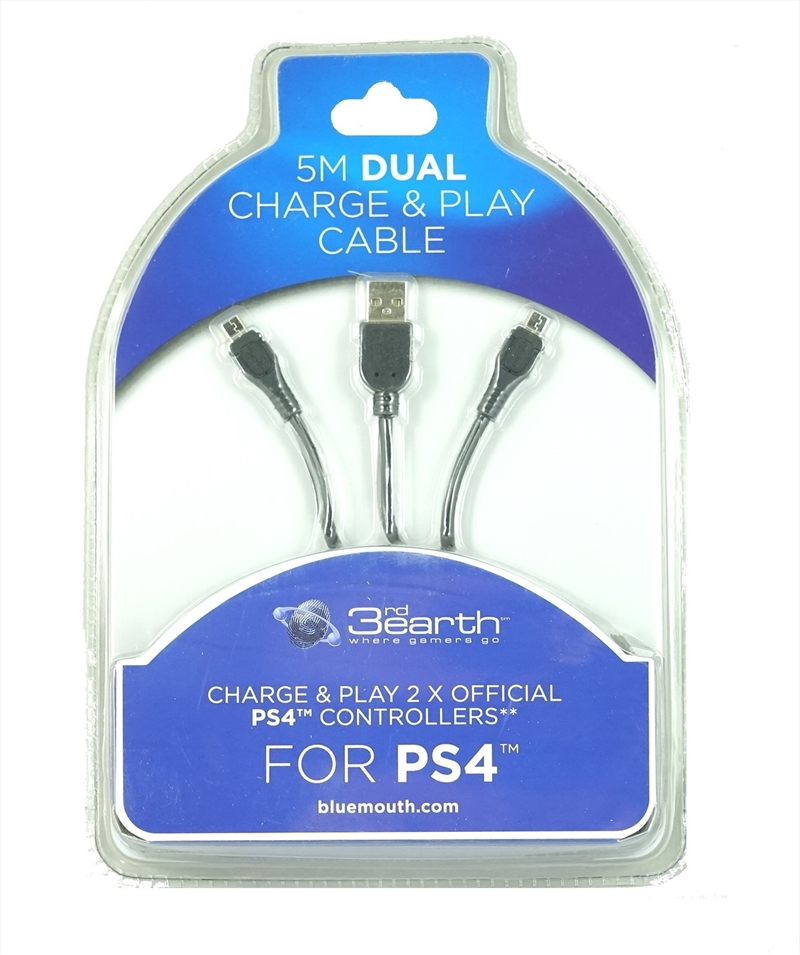 PS4 Dual Play and Charge Cable 5m | PlayStation 4