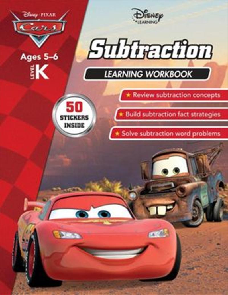 Disney Cars: Subtraction Learning Workbook Level K   Paperback Book