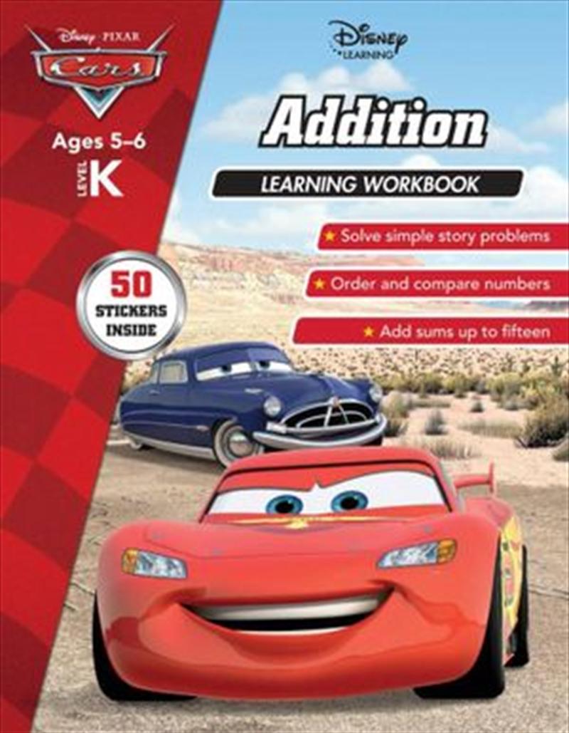 Disney Cars: Addition Learning Workbook Level K   Paperback Book
