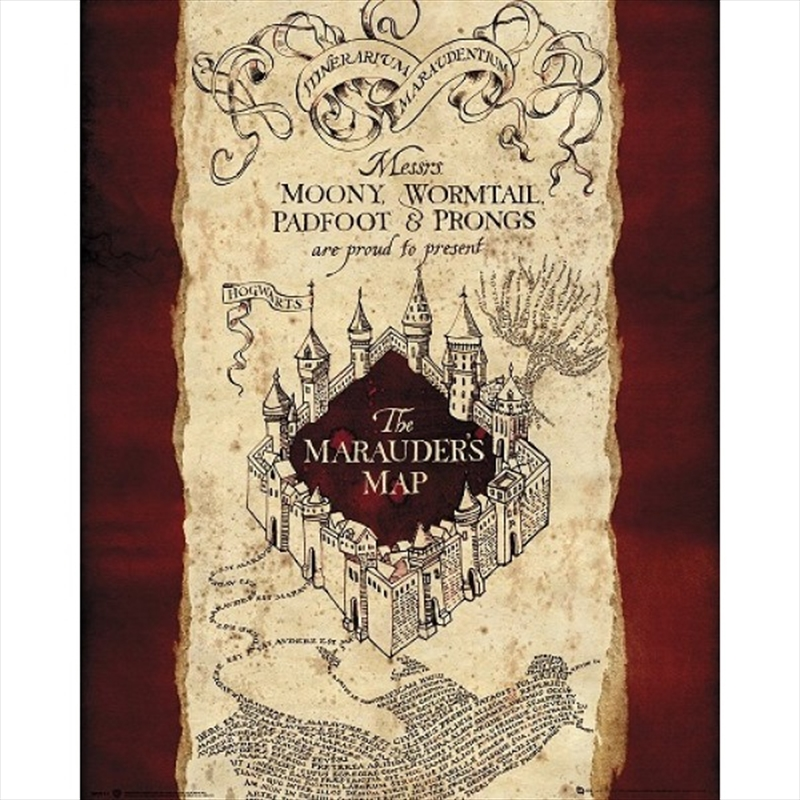 Harry Potter Maraunders Map Poster | Merchandise