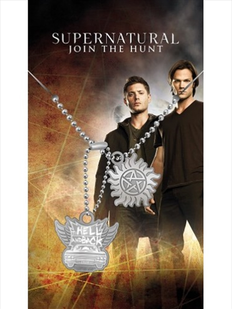 Supernatural Hell and Back Dog Tags   Apparel