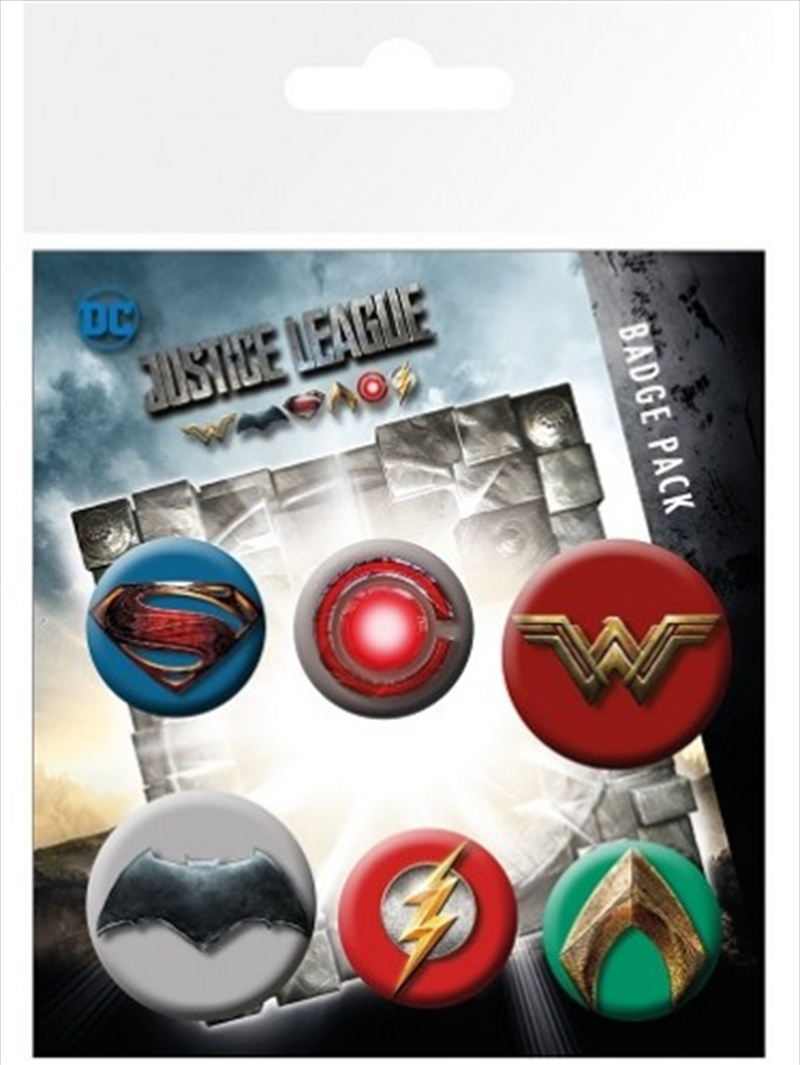 DC Comics Justice League Mix Badge Pack | Merchandise
