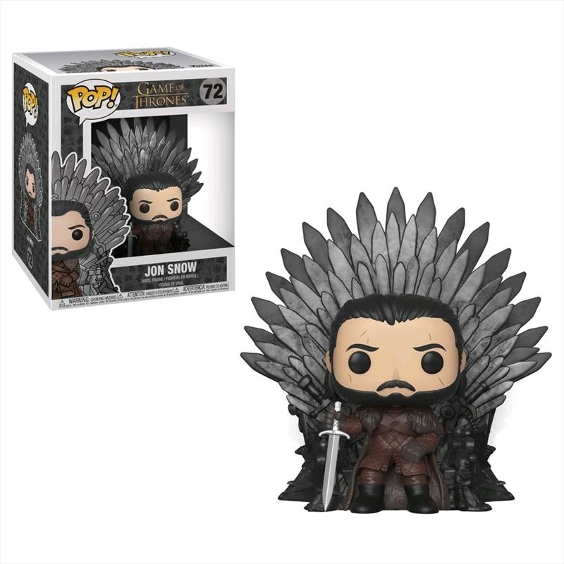 Game of Thrones - Jon Snow on Iron Throne Pop! Deluxe | Pop Vinyl
