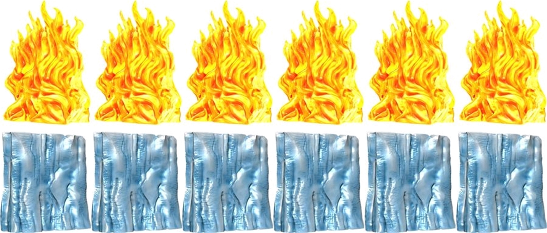 Dungeons & Dragons - Spell Effects Wall of Ice & Wall of Fire Pre-Painted Miniatures | Games