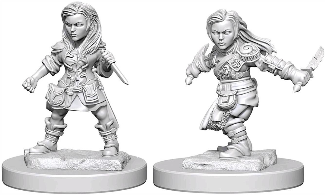 Dungeons & Dragons - Nolzur's Marvelous Unpainted Minis: Halfling Female Rogue | Games