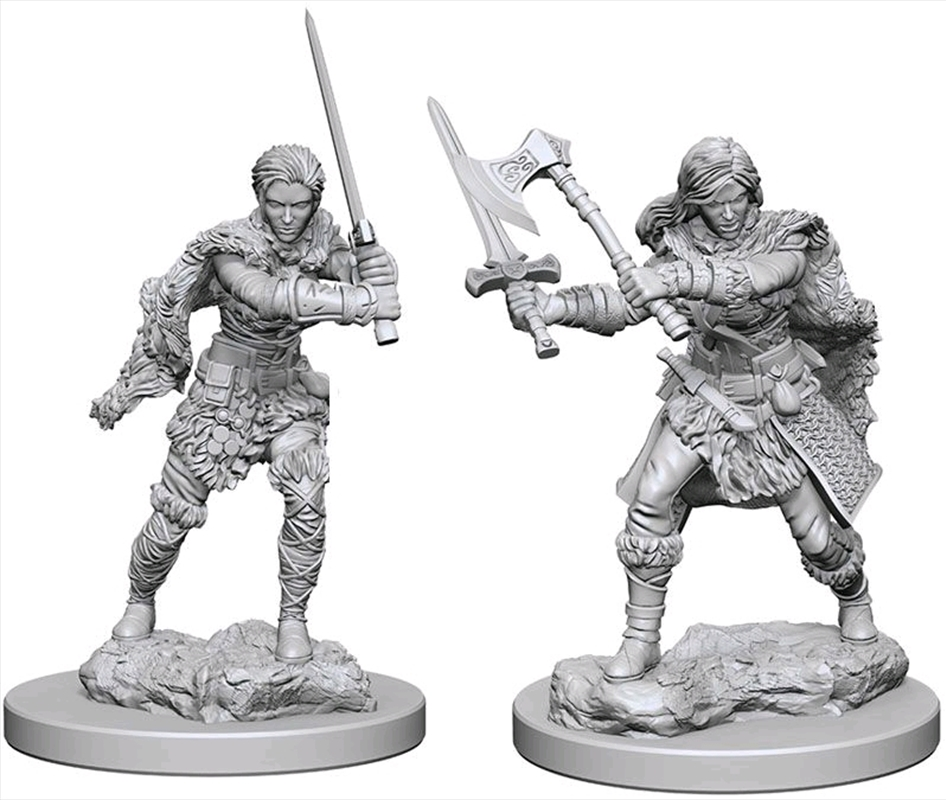 Dungeons & Dragons - Nolzur's Marvelous Unpainted Minis: Human Female Barbarian   Games