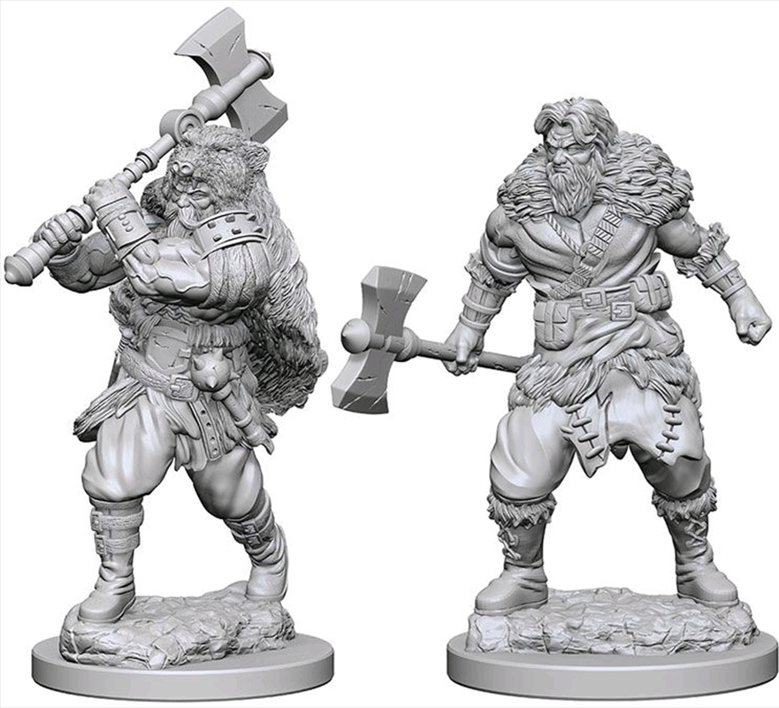 Dungeons & Dragons - Nolzur's Marvelous Unpainted Minis: Human Male Barbarian   Games