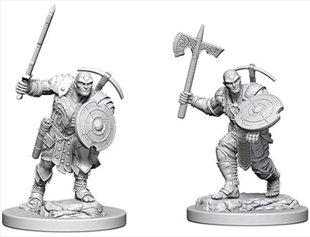 Dungeons & Dragons - Nolzur's Marvelous Unpainted Minis: Earth Genasi Male Fighter   Games