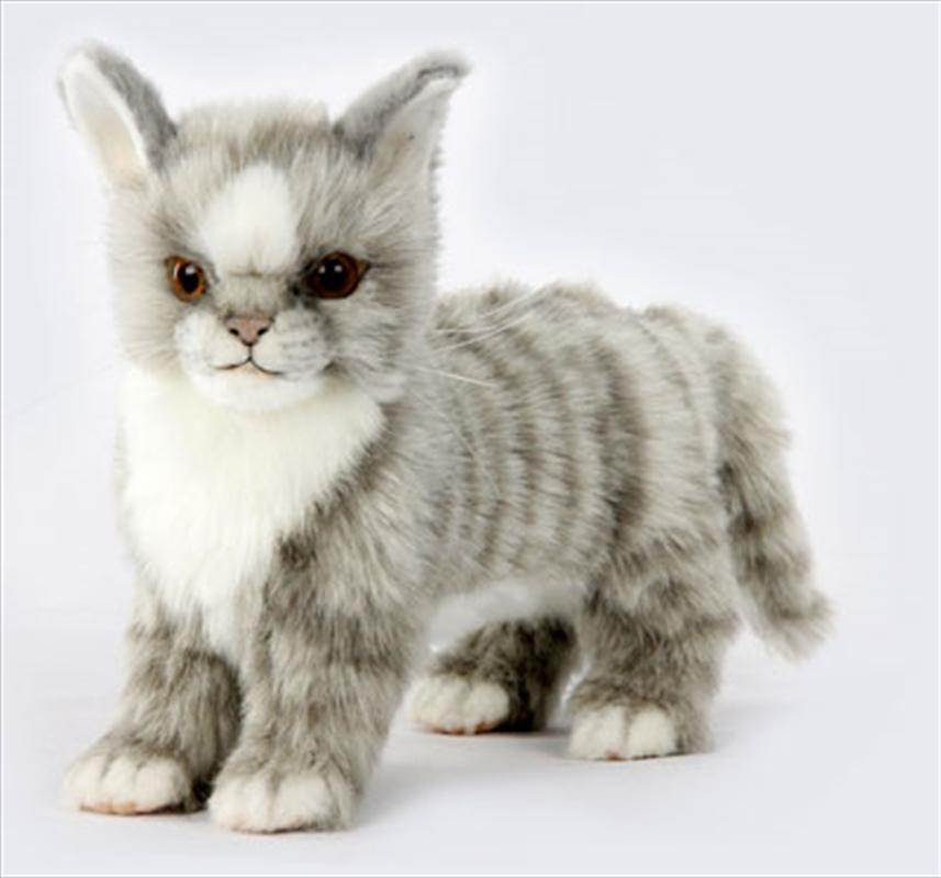 Kitten Gray Standing 22cm L | Toy