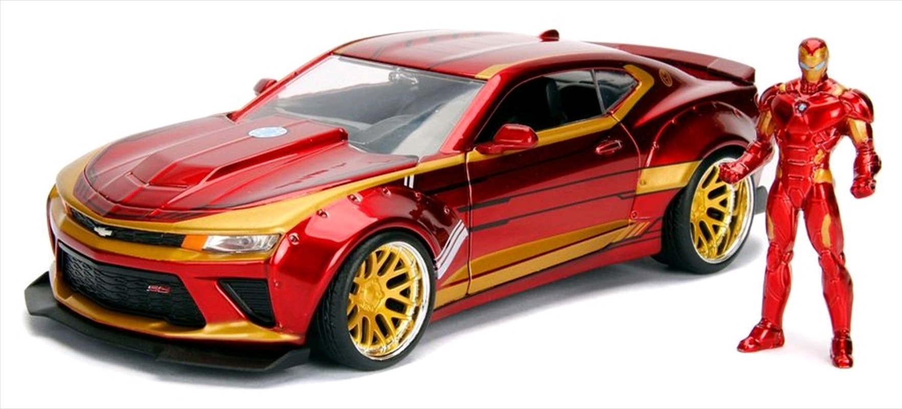 Iron Man - 2016 Chevy Camero SS Hollywood Rides 1:24 Scale Diecast Vehicle   Merchandise
