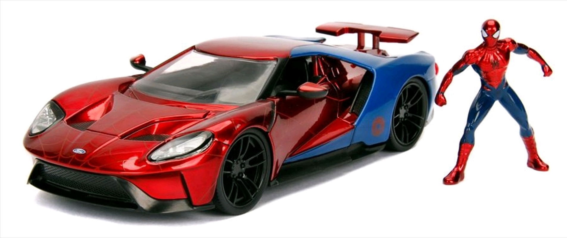 Spider-Man - 2017 Ford GT Hollywood Rides 1:24 Scale Diecast Vehicle | Merchandise