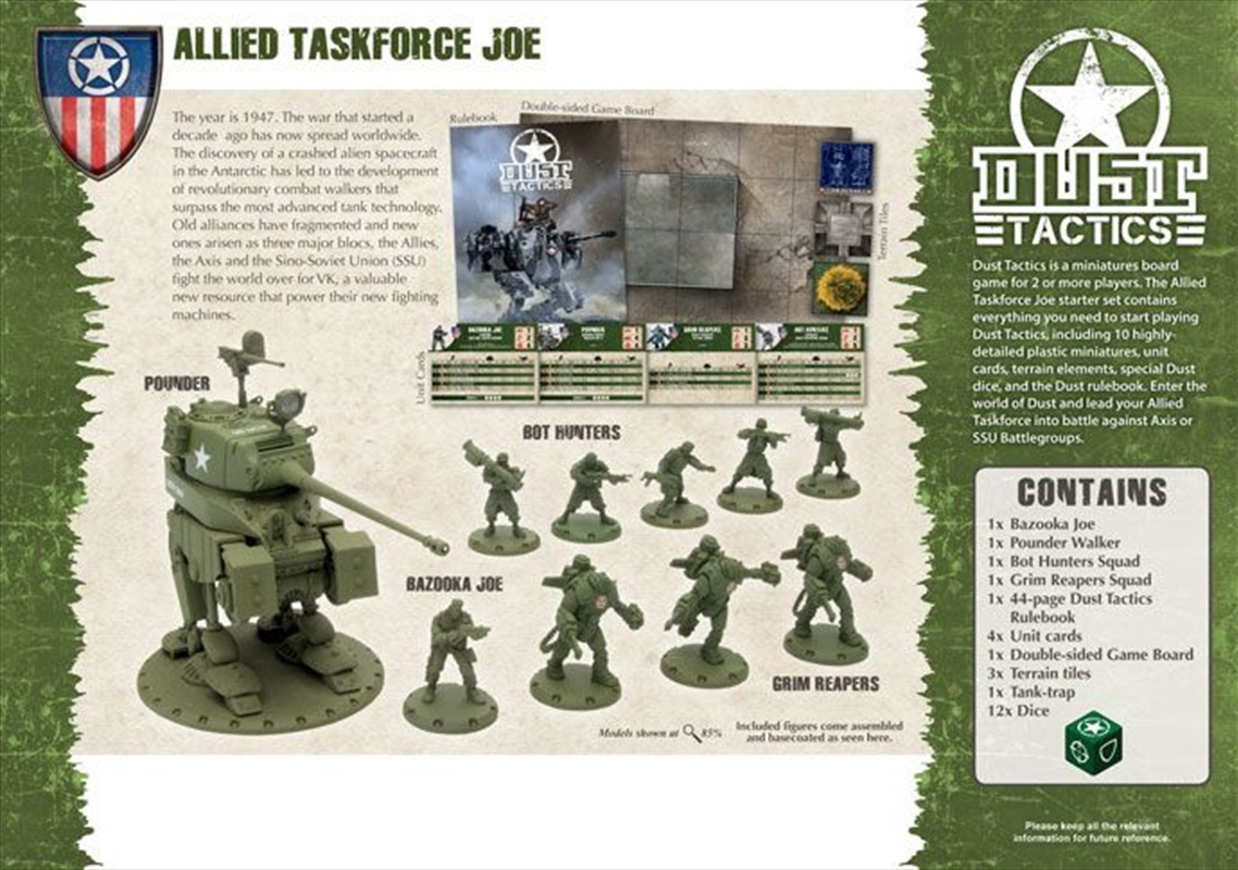 Dust - Allies Taskforce Joe Starter Set | Games