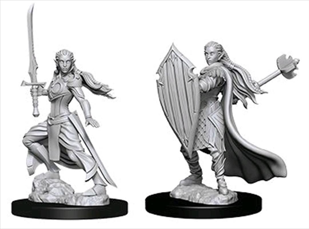 Dungeons & Dragons - Nolzur's Marvelous Unpainted Minis: Unpainted Female Elf Paladin | Games
